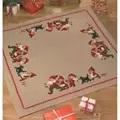 Permin Santa Family Tree/Gift Mat Christmas Cross Stitch Kit