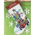 Dimensions Santa Sidecar Stocking Christmas Cross Stitch Kit