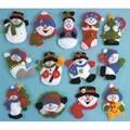 Design Works Crafts Snowman Ornaments Christmas Craft Kit