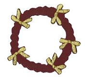 DMC Red and Gold Wreath