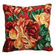 Collection D'Art Cabbage Roses I Cross Stitch Kit