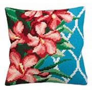Collection D'Art Hibiscus Floral Cross Stitch Kit