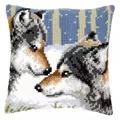 Vervaco Wolves Cushion Cross Stitch Kit