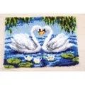 Vervaco Swans Rug Latch Hook Kit
