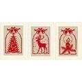 Vervaco Rustic Christmas Set Card Making Cross Stitch Kit