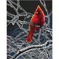Dimensions Ice Cardinal Christmas Cross Stitch Kit