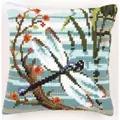 Vervaco Dragonfly Cushion Cross Stitch Kit