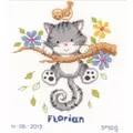 Vervaco Kitten Birth Record Birth Sampler Cross Stitch