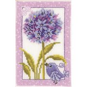 Vervaco Agapanthus Floral Cross Stitch Kit