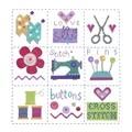 Stitching Shed Sewing Sampler Cross Stitch Kit