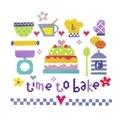 Stitching Shed Time to Bake Cross Stitch Kit