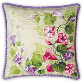 RIOLIS Pastel Bindweed Cushion Floral Cross Stitch Kit