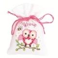 Vervaco Pink Owl Bag Cross Stitch Kit