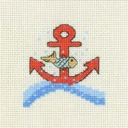 Permin Fish and Anchor Cross Stitch Kit
