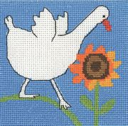 Permin Goose and Sunflowers Cross Stitch Kit