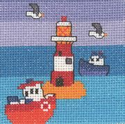 Permin Lighthouse and Boats Cross Stitch Kit