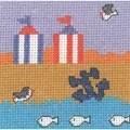 Permin Beach Huts Cross Stitch Kit