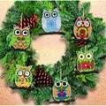Janlynn Owl Ornaments Christmas Cross Stitch Kit