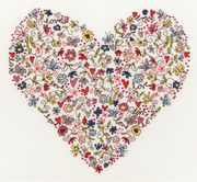 Bothy Threads Love Heart Floral Cross Stitch Kit