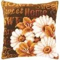 Vervaco Modern Daisies Cushion Cross Stitch Kit