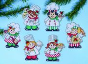 Design Works Crafts Cooking up Christmas Ornaments Cross Stitch Kit