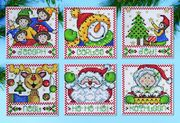 Design Works Crafts Christmas Tags Ornaments Cross Stitch Kit