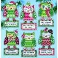 Design Works Crafts Happy Owlidays Ornaments Christmas Cross Stitch Kit