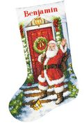 Dimensions Welcome Santa Stocking Christmas Cross Stitch Kit