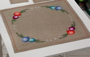 Permin Baubles Tablecloth Christmas Cross Stitch Kit