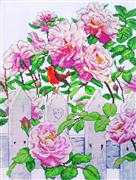 Design Works Crafts Roses in Provence Cross Stitch Kit