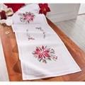 Deco-Line Poinsettia Table Runner Christmas Cross Stitch Kit