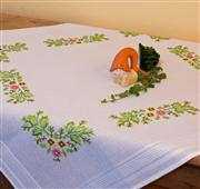 Deco-Line Leafy Tablecloth Embroidery Kit