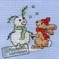 Mouseloft Snowbunny Christmas Card Making Cross Stitch Kit