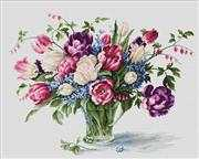Luca-S Tulips Floral Cross Stitch Kit