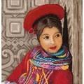 Lanarte Peruvian Girl - Aida Cross Stitch Kit