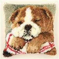 Vervaco Sleeping Bulldog Cushion Latch Hook Kit