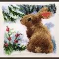 Vervaco Snow Rabbit Cushion Latch Hook Kit