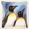 Vervaco King Penguins Cushion Cross Stitch Kit