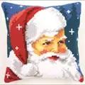 Vervaco Kind Santa Cushion Christmas Cross Stitch Kit