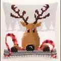 Vervaco Reindeer Cushion Christmas Cross Stitch Kit