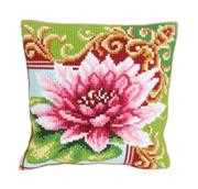 Collection D'Art Luxurious Lily 2 Cushion Floral Cross Stitch Kit