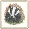 Heritage Badger Coaster Cross Stitch Kit