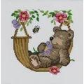 Permin Bear in Hammock Cross Stitch Kit