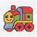 Permin Train Cross Stitch Kit