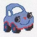 Permin Car Cross Stitch Kit
