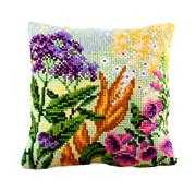Collection D'Art Lupin Cushion Floral Cross Stitch Kit