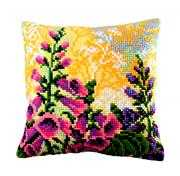 Collection D'Art Lupin Dream Cushion Floral Cross Stitch Kit