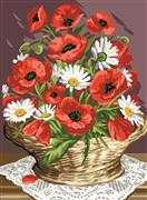 Royal Paris Basket of Poppies Tapestry Canvas