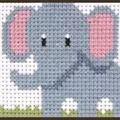 Anchor Elephant Cross Stitch Kit