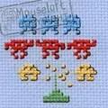 Mouseloft Space Invaders Cross Stitch Kit